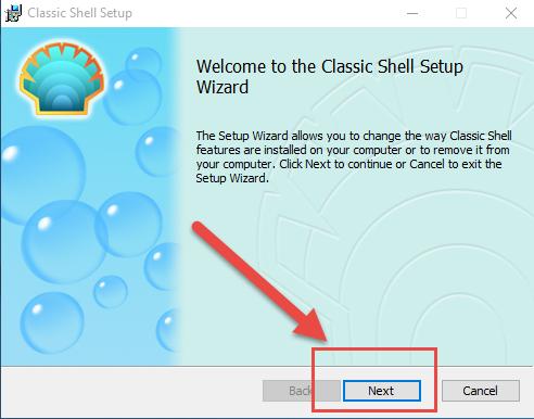 Classic Shell remove1
