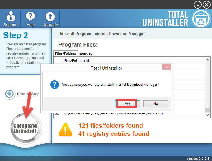 Uninstall Internet Download Manager with Total Unisntaller (2)