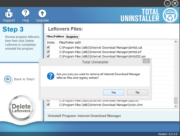 Uninstall Internet Download Manager with Total Unisntaller (3)