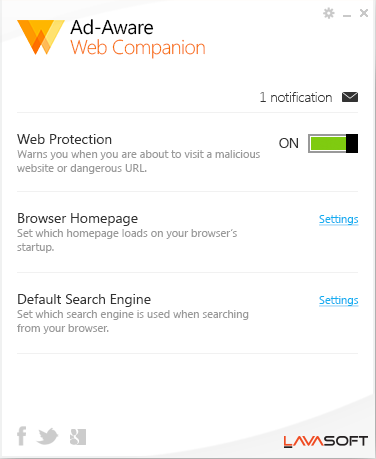 uninstall Web Companion