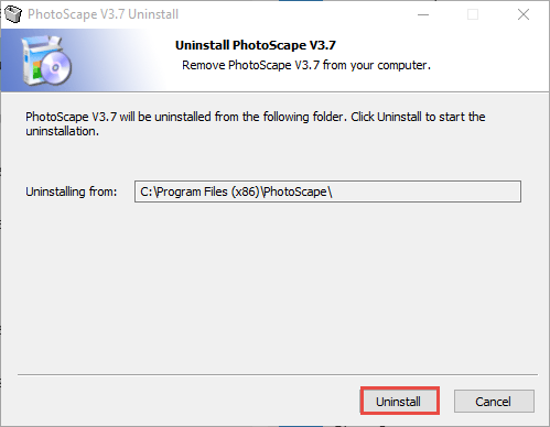 PhotoScape uninstall prompts (1)