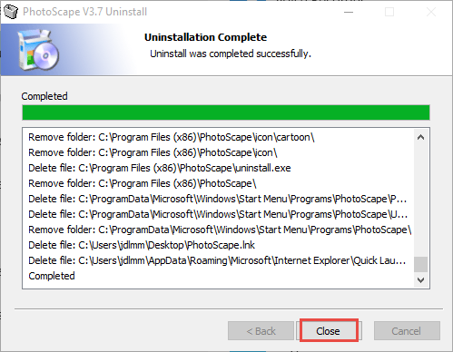 PhotoScape uninstall prompts (2)