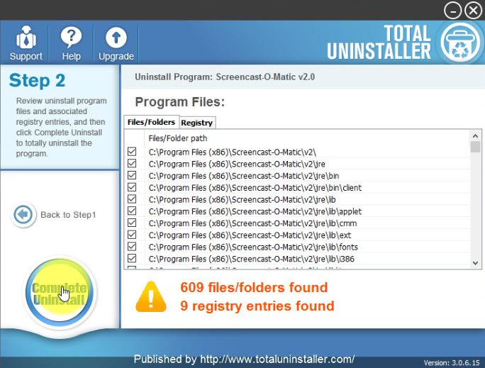 completely uninstall Screencast-O-Matic
