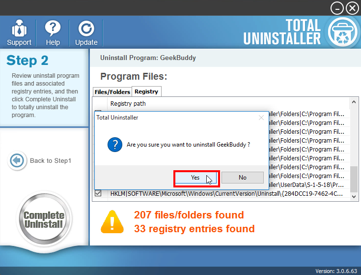 Uninstall GeekBuddy - Total Uninstaller (12)