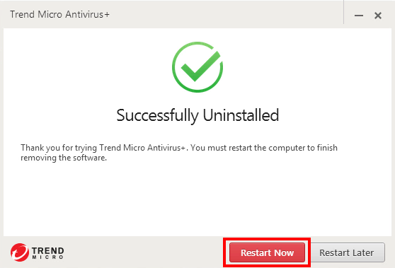 how to uninstall Trend Micro Antivirus+ (12)