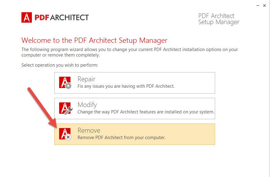 PDF Architect remover
