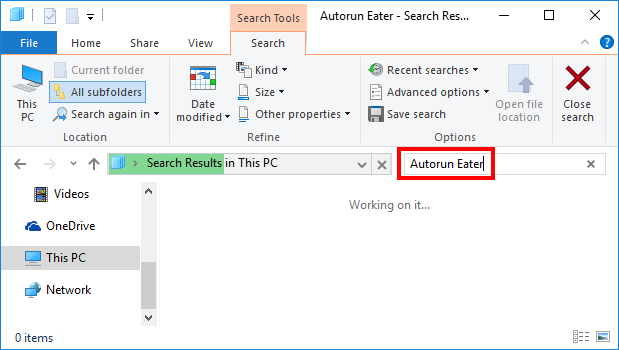 Uninstall Autorun Eater on Windows (5)