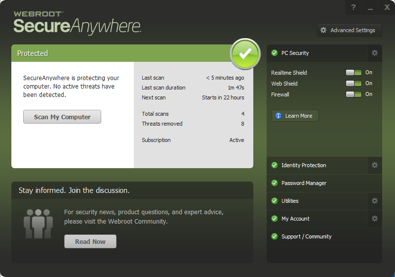 uninstall Webroot SecureAnywhere Antivirus 2016 (1)