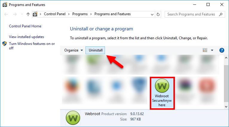 uninstall Webroot SecureAnywhere Antivirus 2016 (6)