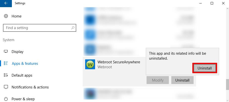 uninstall Webroot SecureAnywhere Antivirus 2016 (7)