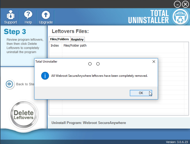 uninstall Webroot SecureAnywhere Antivirus 2016 using Total Uninstaller (3)