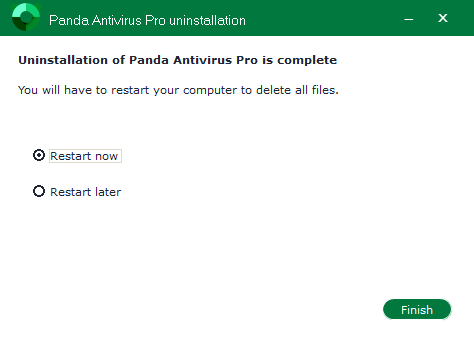 Uninstall Panda Antivirus Pro -Total Uninstaller