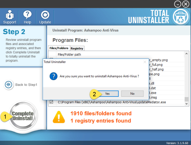 Uninstall Ashampoo Anti-Virus on Windows - Total Uninstaller (13)