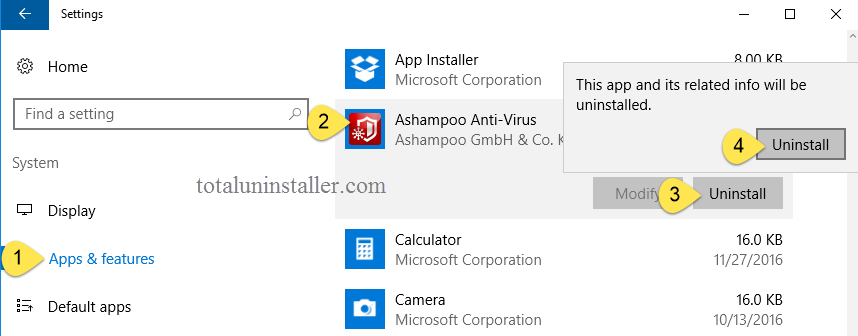Uninstall Ashampoo Anti-Virus on Windows - Total Uninstaller (8)