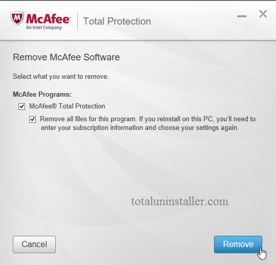 Uninstall McAfee Total Protection - Total Uninstaller (15)