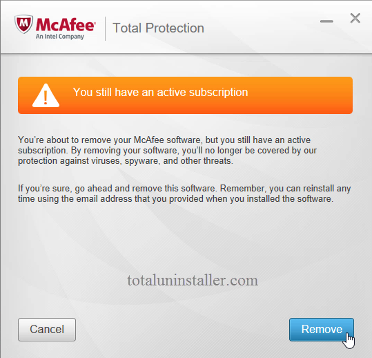 Uninstall McAfee Total Protection - Total Uninstaller (16)