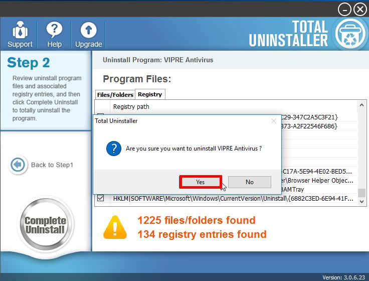 Uninstall VIPRE Antivirus 2016 with Total Uninstaller (2)