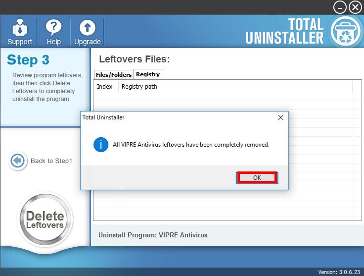 Uninstall VIPRE Antivirus 2016 with Total Uninstaller (3)