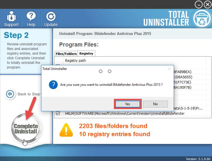 Uninstall Bitdefender Antivirus Plus 2015 on Windows - Total Uninstaller (10)