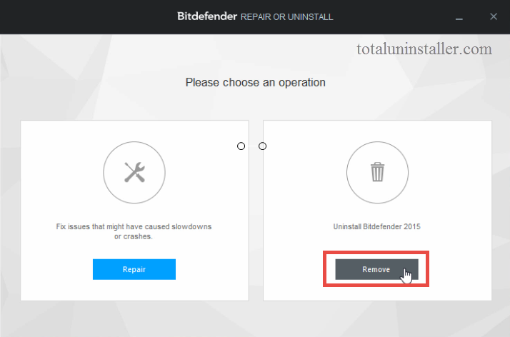 Uninstall Bitdefender Antivirus Plus 2015 on Windows - Total Uninstaller (13)