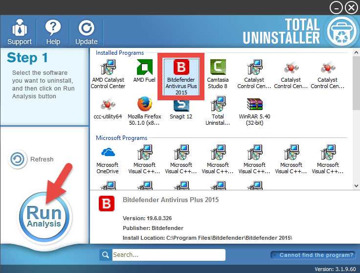 Uninstall Bitdefender Antivirus Plus 2015 on Windows - Total Uninstaller (9)