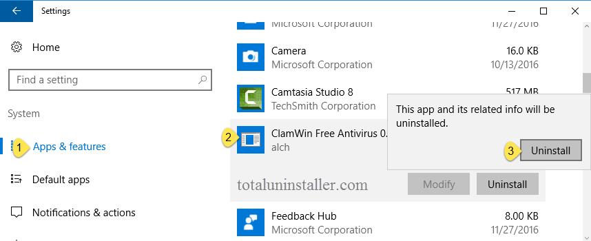 uninstall ClamWin Antivirus on Windows - Total Uninstaller (4)