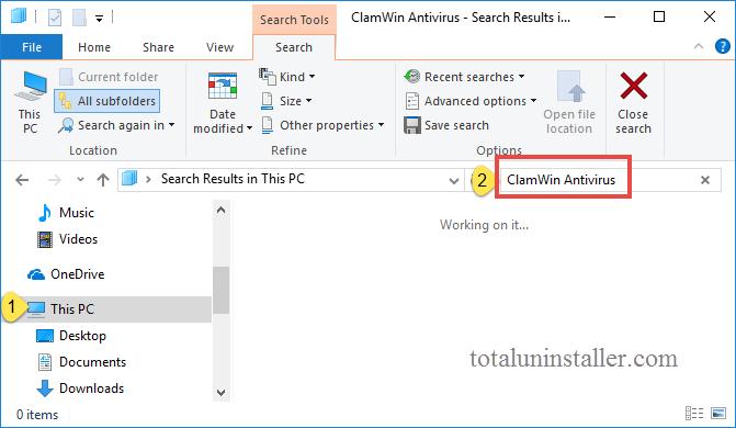 uninstall ClamWin Antivirus on Windows - Total Uninstaller (5)