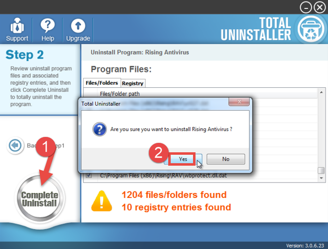 Uninstall Rising Antivirus - Total Uninstaller (14)