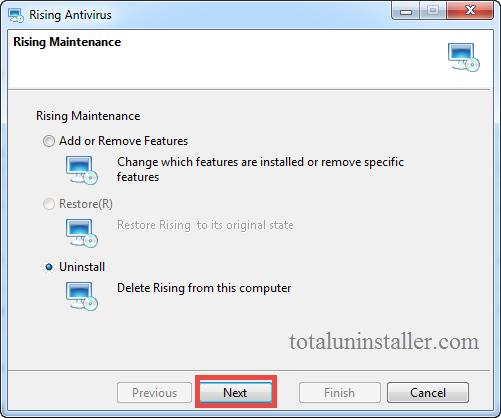 Uninstall Rising Antivirus - Total Uninstaller (4)
