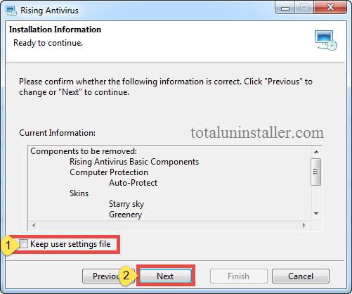Uninstall Rising Antivirus - Total Uninstaller (5)