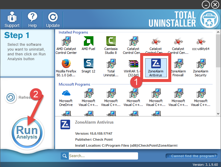 Uninstall ZoneAlarm Pro Antivirus + Firewall - Total Uninstaller (9)