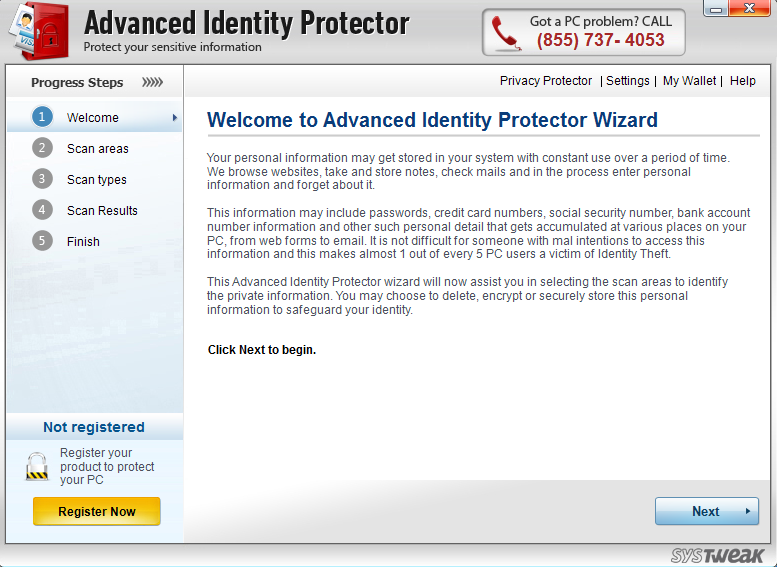uninstall Advanced Identity Protector