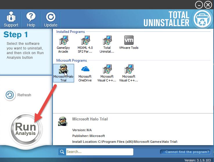 uninstall Halo: Combat Evolved with TU