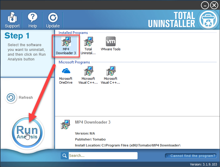 uninstall MP4 Downloader with TU