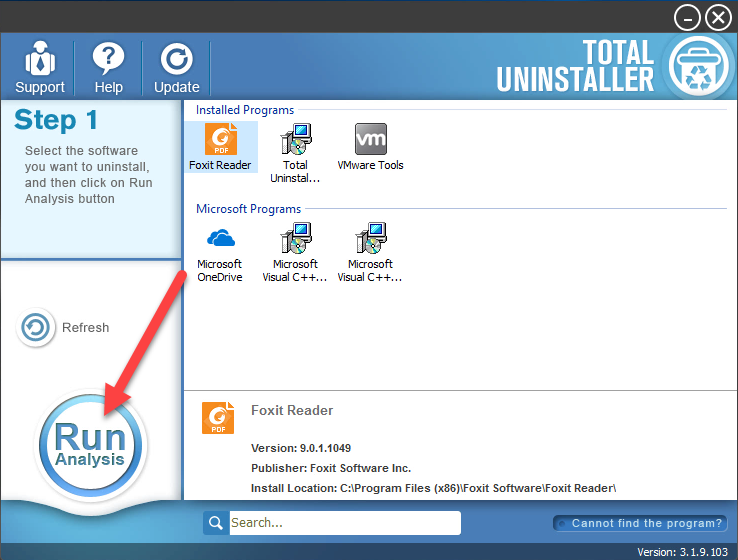 uninstall Foxit Reader