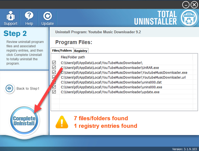 complete_uninstall_YouTube_Music_Downloader