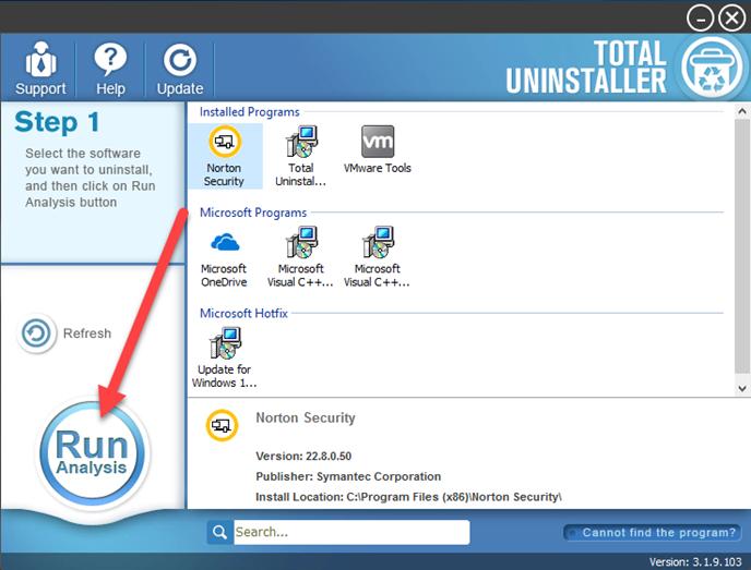 uninstall Norton Security Deluxe