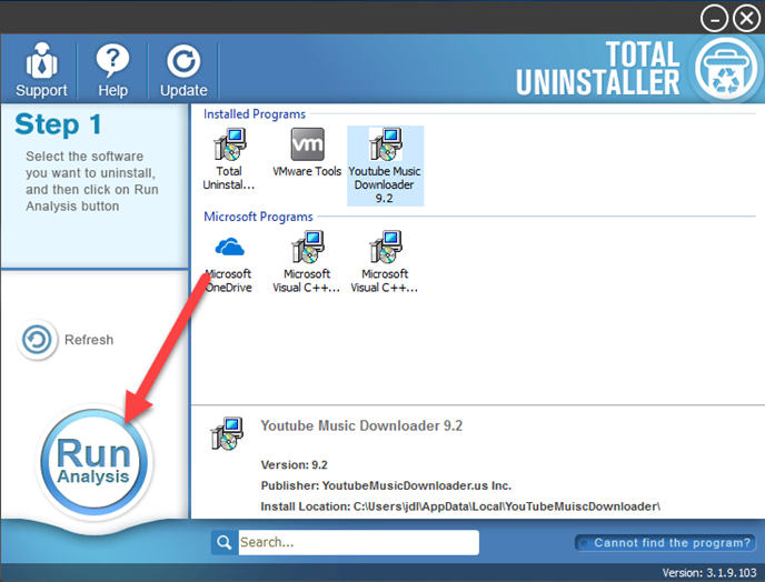 uninstall YouTube Music Downloader