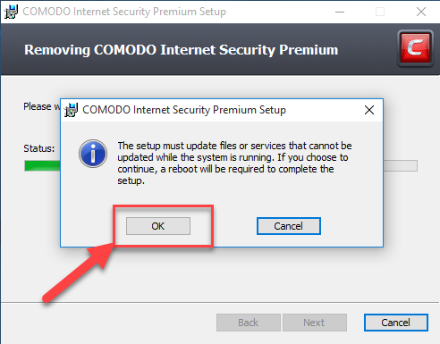 comodo internet security removal tool download