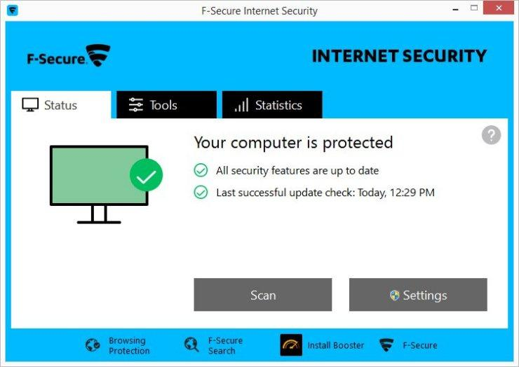 Uninstall F-Secure Internet Security