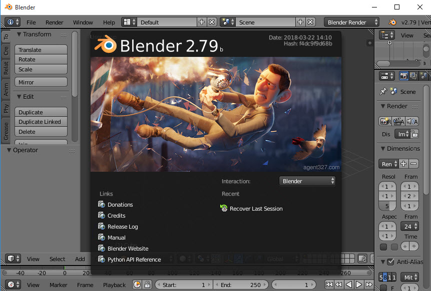 uninstall Blender