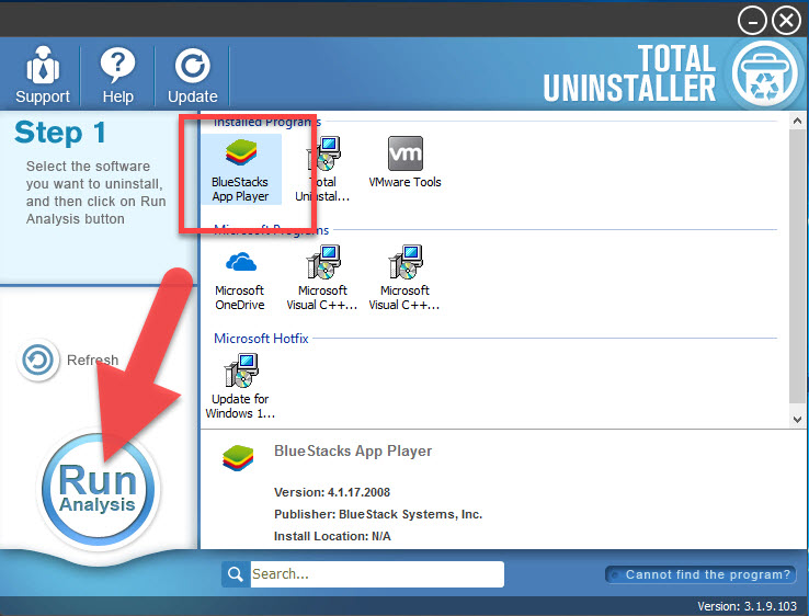 uninstall BlueStacks App Player