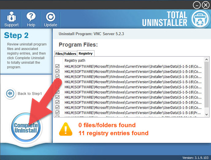 uninstall_RealVNC