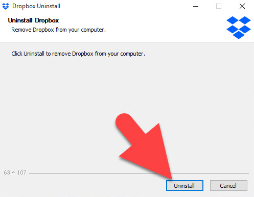 how to delete a from dropbox
