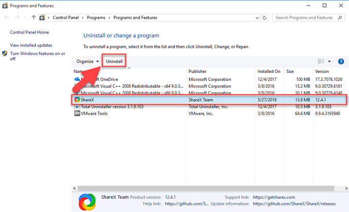 Uninstall ShareX Guides – How can Remove The App on Windows
