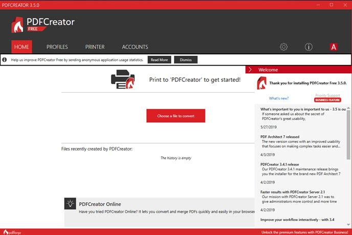 uninstall PDFCreator