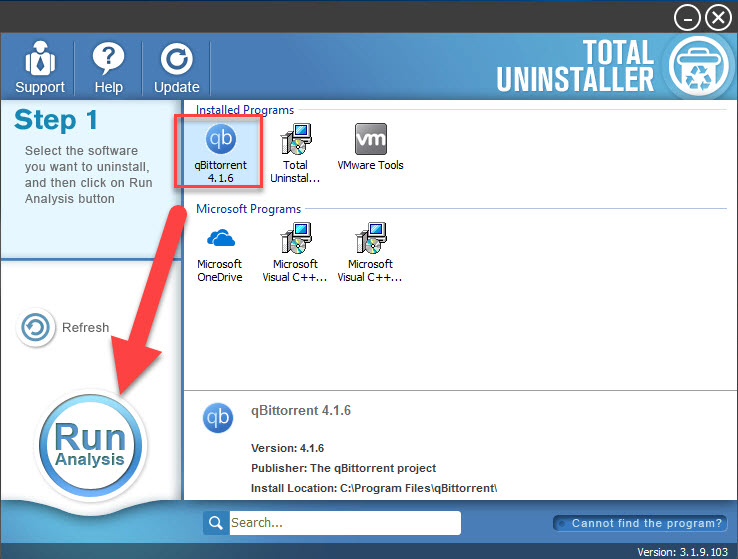 uninstall qBittorrent with TU
