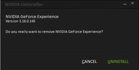 delete Geforce Experience