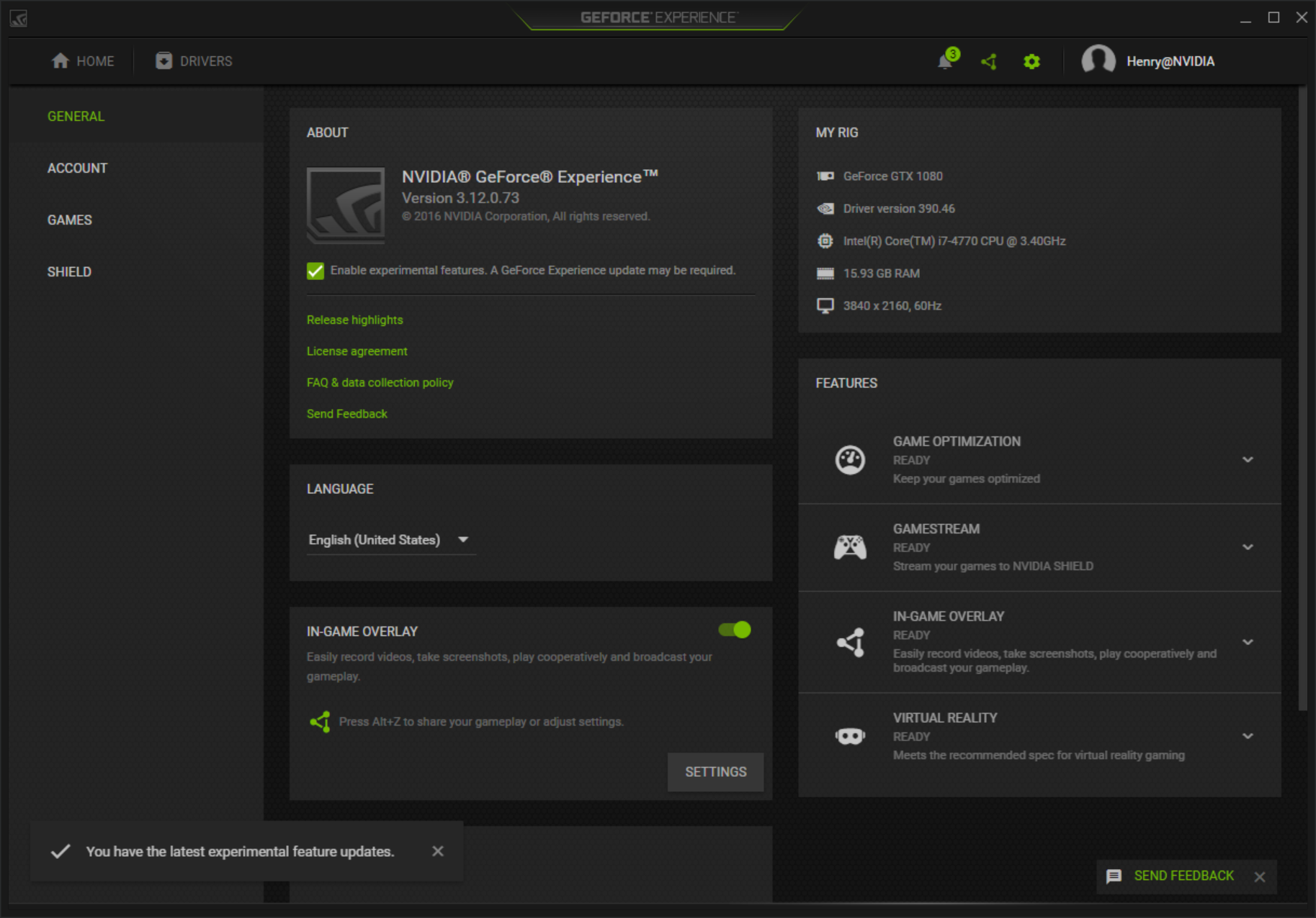 remove Geforce Experience
