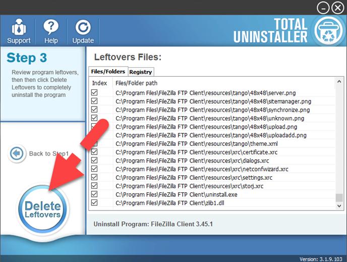 delete_FileZilla_leftovers